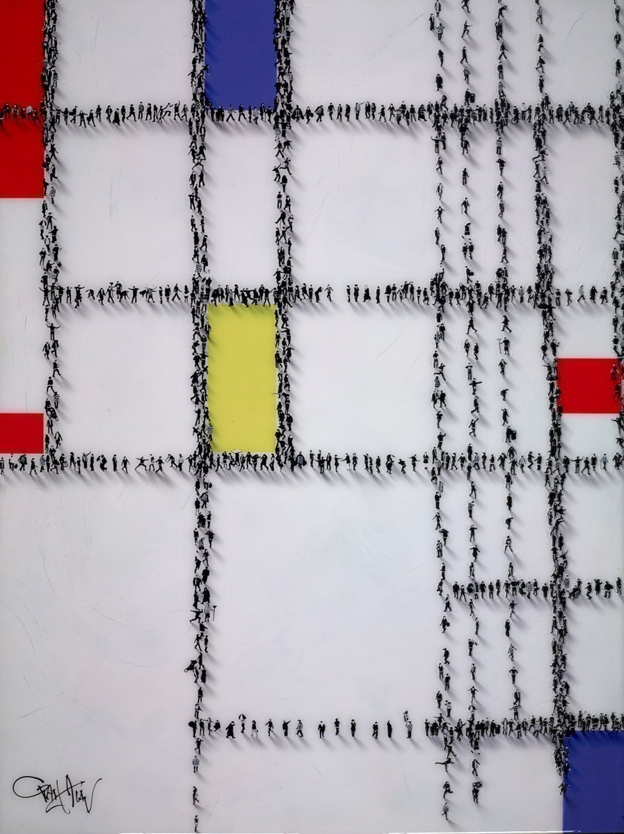 Gridlocked III by Craig Alan -  sized 36x48 inches. Available from Whitewall Galleries